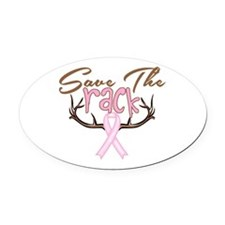 Save The Rack Breast Cancer Awareness Oval Car Mag