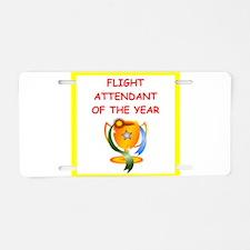 flight attendant Aluminum License Plate