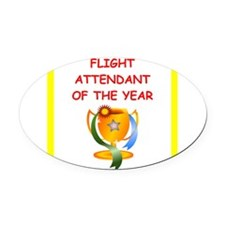 flight attendant Oval Car Magnet
