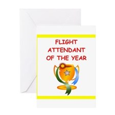 flight attendant Greeting Cards