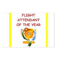 flight attendant Postcards (Package of 8)