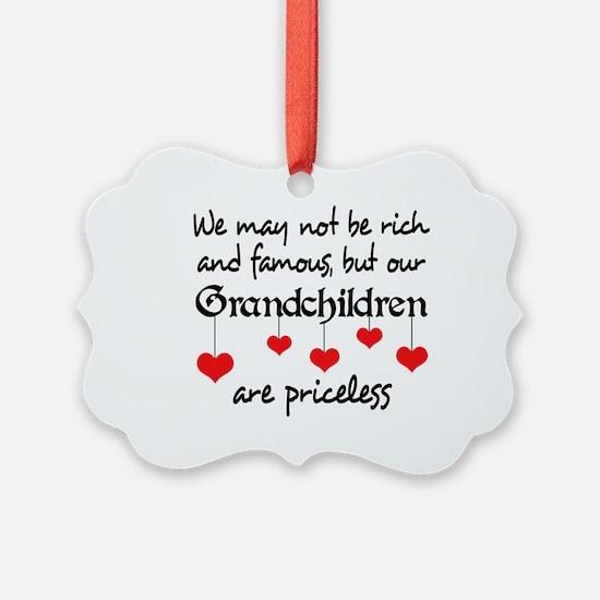 GRANDCHILDREN ARE PRICELESS Ornament