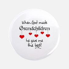 """GRANDCHILDREN ARE THE BEST 3.5"""" Button"""