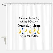 GRANDCHILDREN HUNG THE MOON Shower Curtain