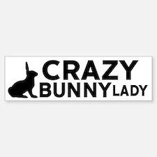 Crazy Bunny Lady Bumper Bumper Bumper Sticker