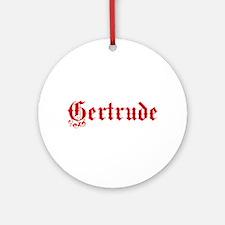 Gertrude Ornament (Round)