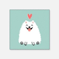 "Pomeranian Love Square Sticker 3"" x 3"""