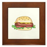 Hamburger patty Framed Tiles