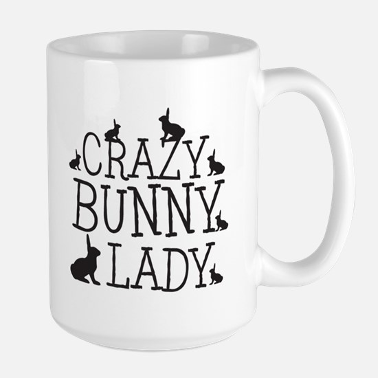 Crazy Bunny Lady Mugs