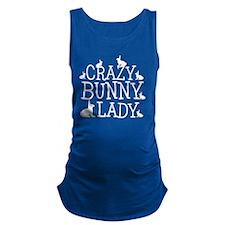 Crazy Bunny Lady Maternity Tank Top