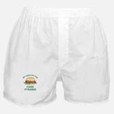 My Idea Of The Food Pyramid Boxer Shorts