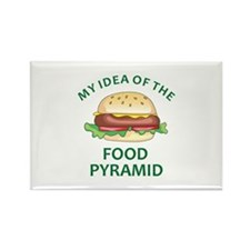 My Idea Of The Food Pyramid Magnets