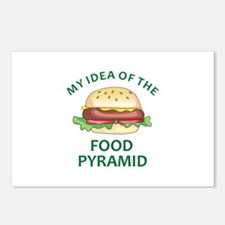 My Idea Of The Food Pyramid Postcards (Package of