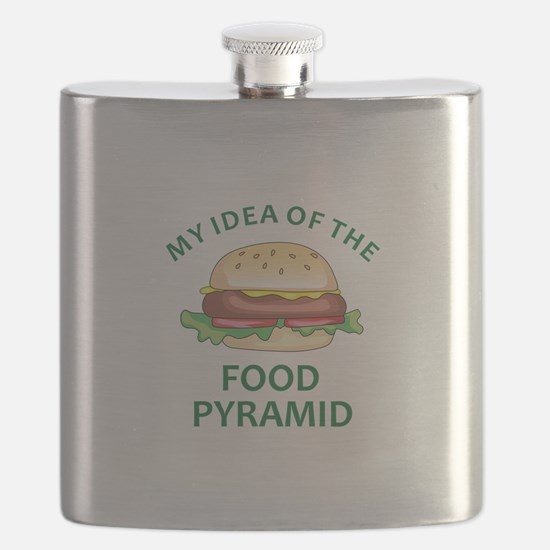 My Idea Of The Food Pyramid Flask