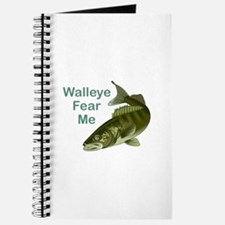 WALLEYE FEAR ME Journal