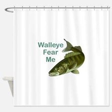 WALLEYE FEAR ME Shower Curtain