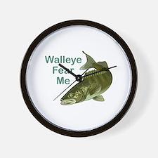 WALLEYE FEAR ME Wall Clock