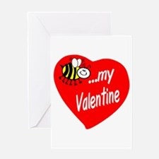 Bee My Valentine Greeting Cards