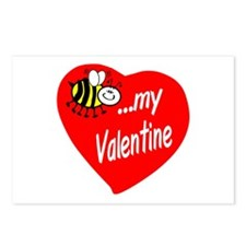Bee My Valentine Postcards (Package of 8)