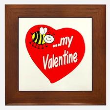 Bee My Valentine Framed Tile