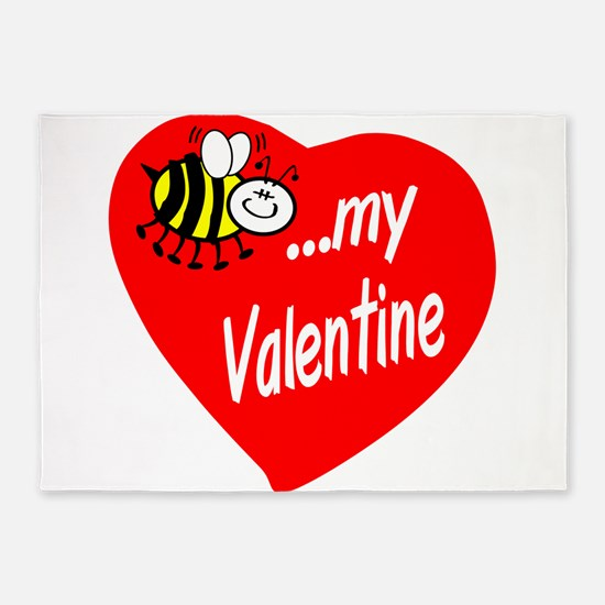 Bee My Valentine 5'x7'Area Rug