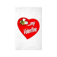 Bee My Valentine Area Rug