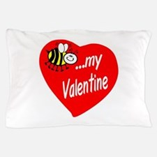 Bee My Valentine Pillow Case