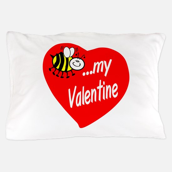 Bee My Valentine Pillow Case