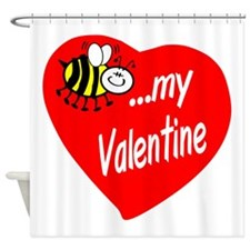 Bee My Valentine Shower Curtain