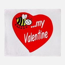 Bee My Valentine Throw Blanket