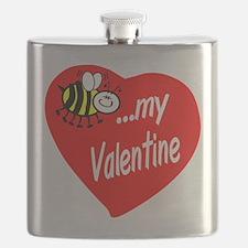 Bee My Valentine Flask