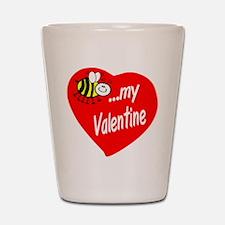 Bee My Valentine Shot Glass