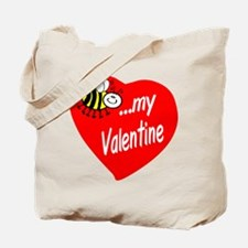 Bee My Valentine Tote Bag