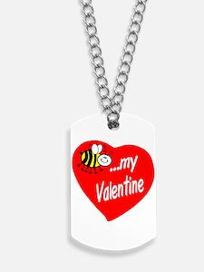 Bee My Valentine Dog Tags