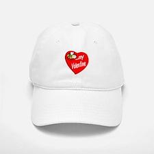 Bee My Valentine Baseball Baseball Baseball Cap