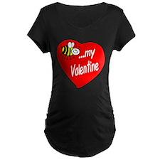 Bee My Valentine Maternity T-Shirt