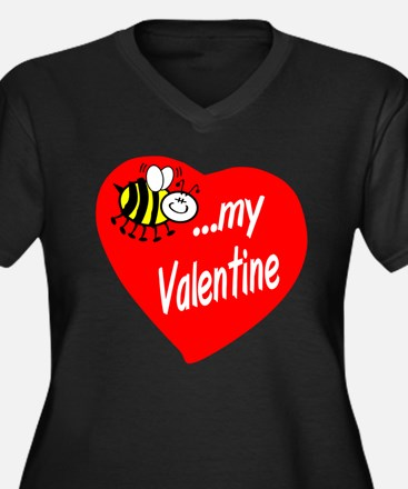 Bee My Valentine Plus Size T-Shirt