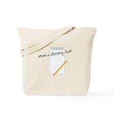 Mom's Grocery List Tote Bag