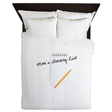 Mom's Grocery List Queen Duvet