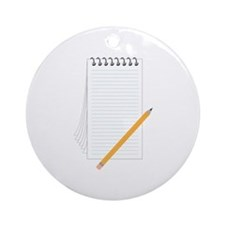 Pencil Notebook Ornament (Round)