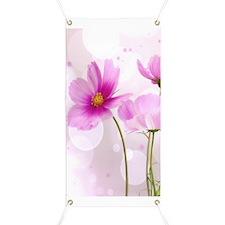 Pink Cosmos Flower Banner