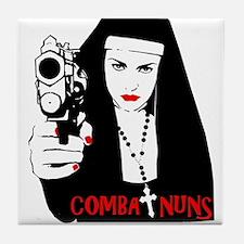 Combat nuns back Tile Coaster