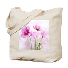 Pink Cosmos Flower Tote Bag