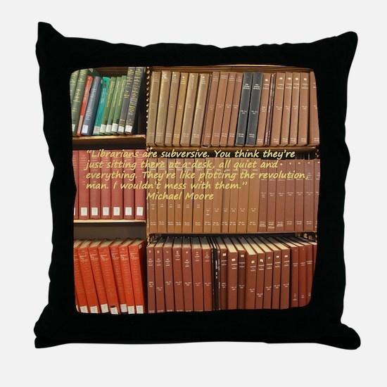 Subversive Librarians Throw Pillow
