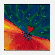 Growing Heart Tile Coaster