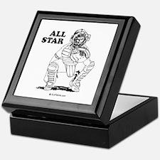 All star catcher Keepsake Box