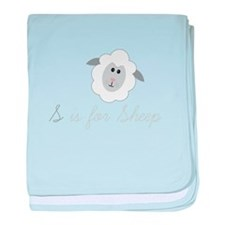 S Is For Sheep baby blanket