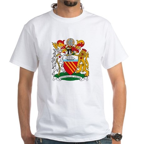 Manchester Coat of Arms White T-Shirt