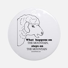 What happens on the mountain Ornament (Round)