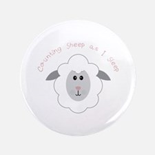 """Counting Sheep 3.5"""" Button"""